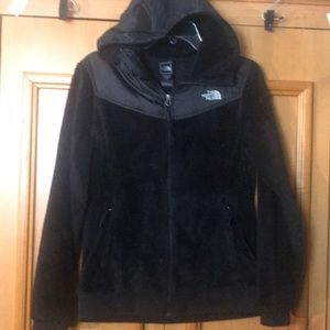 The North Face womens hooded Fleece sz M